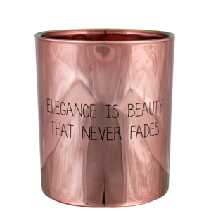 Scented candle 'Elegance is beauty that never fades'